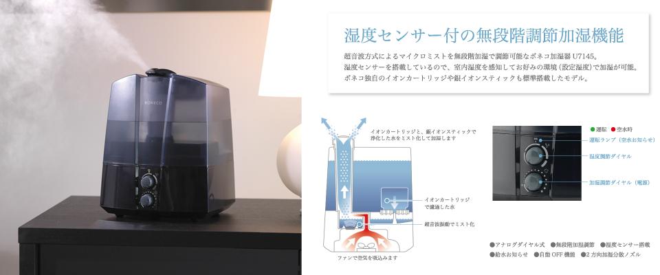 ボネコ 超音波式加湿器