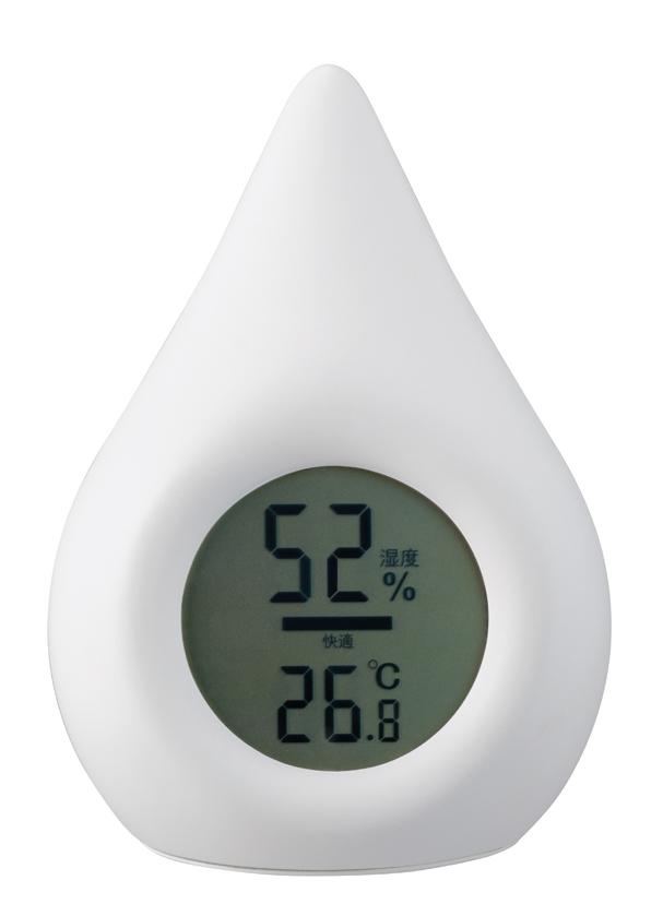 シズク型デジタル温湿度計を新発売
